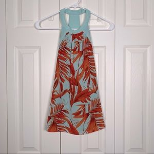 Flowy halter top with bright floral pattern